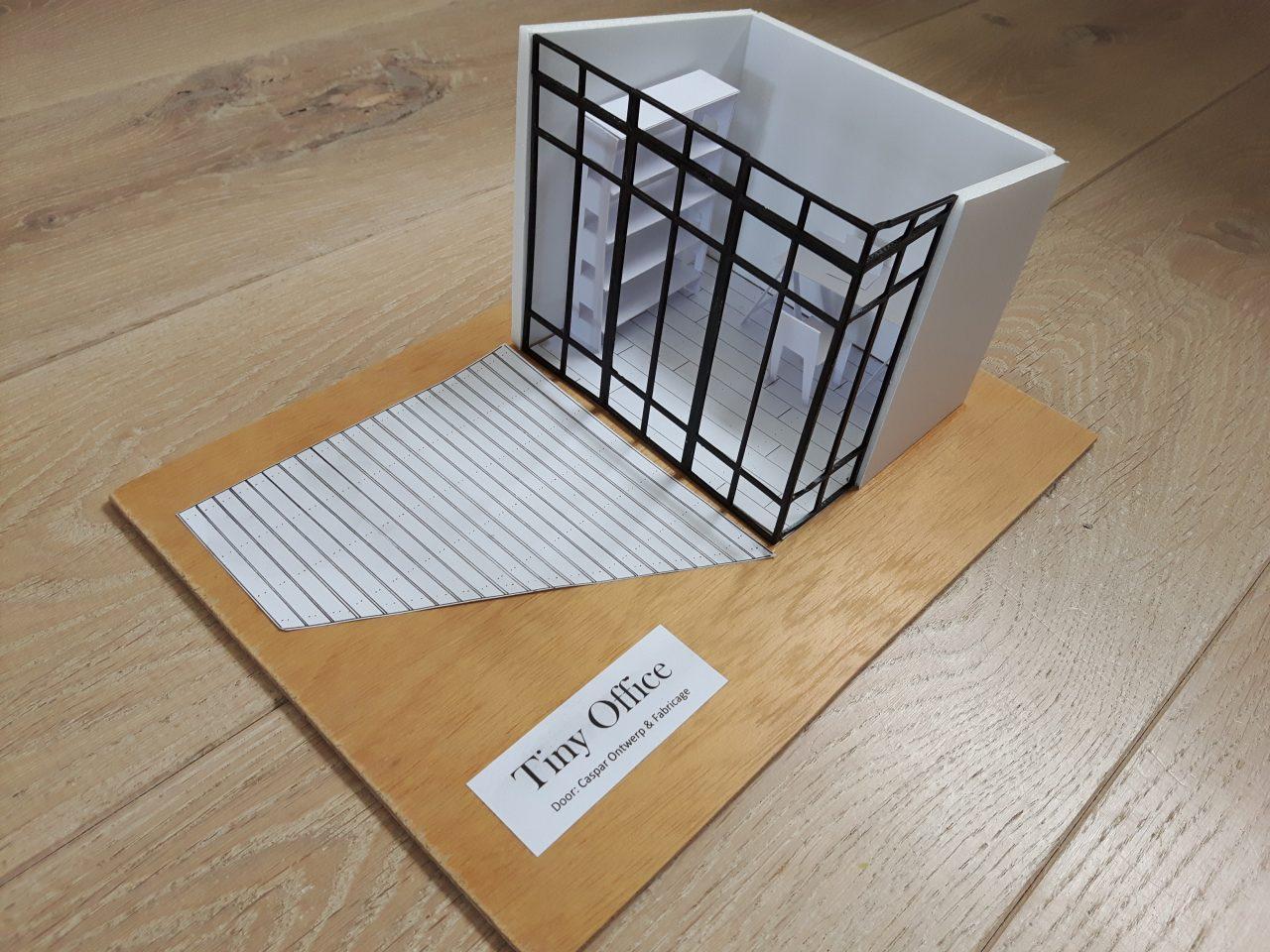 Tiny Office concept voor ontwerpwedstrijd van het CBK Middelburg.